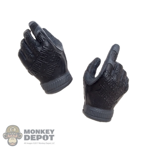 Hands: Easy & Simple Molded Black Mechanix Gloved Hands