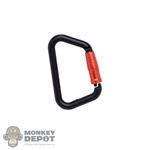 Tool: Easy & Simple Black & Red Carabiner