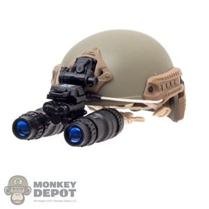 Helmet: Easy & Simple FAST Ballistic High Cut w/L4G24 NVG Mount  & AN/PVS-15 Night Vision Goggle