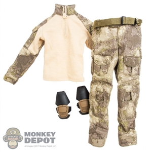 Uniform: Easy & Simple A-TACS Combat Uniform w/Belt & Removable Knee Pads