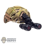 Helmet: Easy & Simple FAST Ballistic High Cut Helmet w/AN/PVS-15 NVG Amber Filter & NVG Counter Weight Pouch