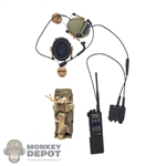 Radio: Easy & Simple Sabre Radio w/COMTAC3 Headset& X-50 PTT & Bottle Cap Head Rail Adaptor