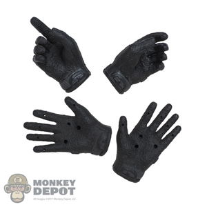 Hands: Easy & Simple Black Molded Tactical Gloved Hands