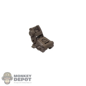 Sight: Easy & Simple Brown Backup Rear Folding Sight
