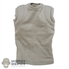 Shirt: Easy & Simple Grayish Sleeveless T-Shirt w/Padding