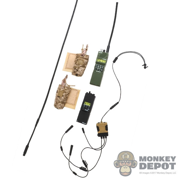 Radio: Easy & Simple C4 OPS Tactical Communication System w/PRC-152 &  PRC-148 Radios, Extended Antenna & Pouches