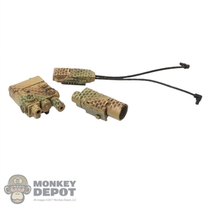 Sight: Easy & Simple Insight PEQ w/M3X Tactical Light & Dual Pressure Switch (Camo)