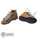 Boots: Easy & Simple Mens Tan Mountain Light Boots