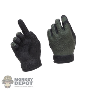 Hands: Easy & Simple Molded Green/Black Mechanix Gloves