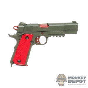 Pistol: Easy & Simple 1911 w/Red Grips