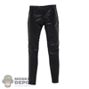 Pants: Figure Coser Female Black Leather-Like Pants