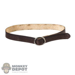Belt: Figure Coser Female Brown Leather-Like Belt