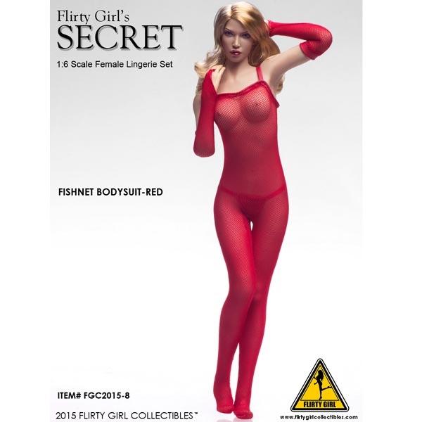80e00a10a1b Monkey Depot - Clothing Set  Flirty Girl Red Female Fishnet Bodysuit