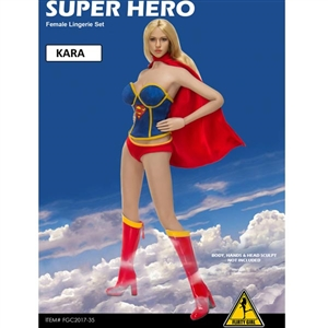 Clothing Set: Flirty Girl Super Hero Kara (FGC2017-35)