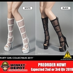 Shoes: Flirty Girl Female High-Heeled Mesh Boots
