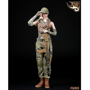 Uniform Set: Fire Girl Female Shooter-Tactical Camo Set 1 (FG-003)
