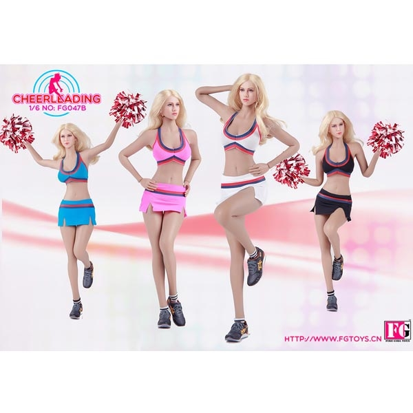 1//6 Fire Girl FG047 Female Cheerleader Suit Sport Clothes Set For 12/'/' Hot Toys