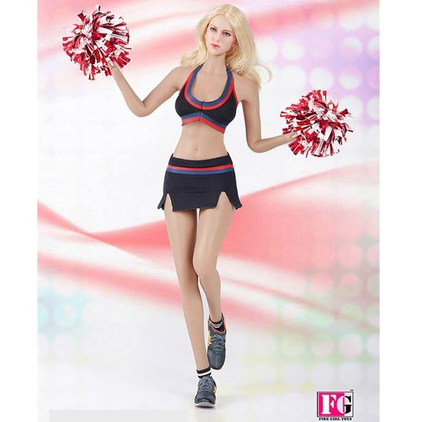 Fire Girl Action Figures Cheeleader White Skirt /& Top Uniform 1//6 Scale