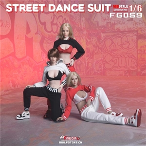 Uniform Set: Fire Girl Female Street Dance Outfit Set