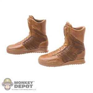 Boots: Fire Girl Female Brown Molded Boots