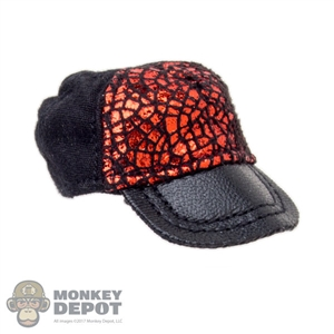 Hat: Fire Girl Black & Red Female Cap