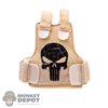 Vest: Fire Girl Female Tan Tactical Vest w/Skull Logo