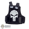 Vest: Fire Girl Female Black Tactical Vest w/Skull Logo