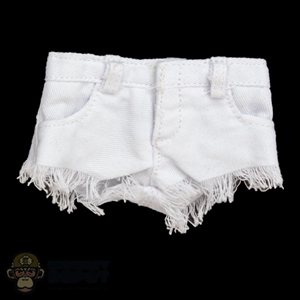 Shorts: Fire Girl Female White Cut Off Jean Shorts
