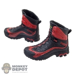 Boots: Fire Girl Female Red & Black Molded Boots