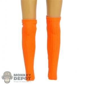 Socks: Fire Girl Orange Leggings