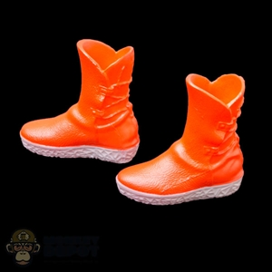 Boots: Fire Girl Orange Female Molded Boots
