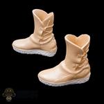 Boots: Fire Girl Tan Female Molded Boots