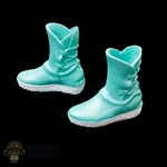 Boots: Fire Girl Blue Female Molded Boots