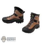 Boots: Fire Girl Female Molded Black & Brown Tactical Boots