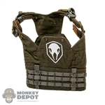 Vest: Fire Girl Female Green Tactical Vest