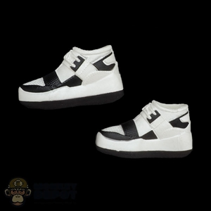 Shoes: Fire Girl Female Black & White Sneakers