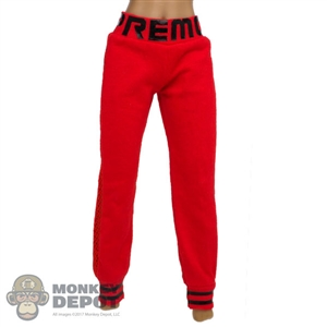 Pants: Fire Girl Female Red & Black Sweatpants