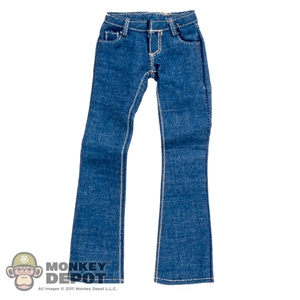 Pants: Flirty Girl Female Blue Boot Cut Jeans