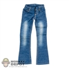 Pants: Flirty Girl Female Blue Faded Boot Cut Jeans