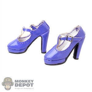 Shoes: Flirty Girl Purple Female High Heeled Shoes