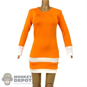 Dress: Flirty Girl Orange Dress