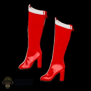 Boots: Flirty Girl Red Superhero Boots