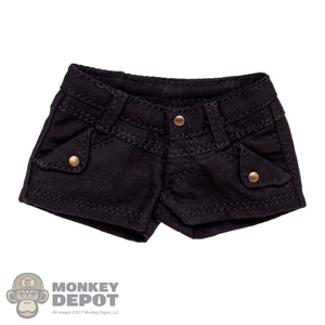 Shorts: Flirty Girl Black Female Shorts