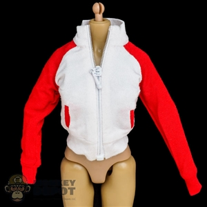 Coat: Flirty Girl Female White & Red Jacket