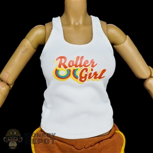 Shirt: Flirty Girl White Female Tank Top