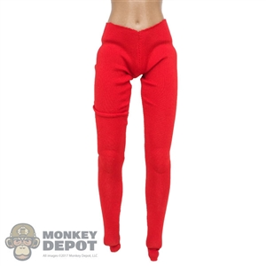 Pants: Flirty Girl Female Red Stretch Pants