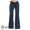 Pants: Flirty Girl Female Blue Bell Bottom Jeans