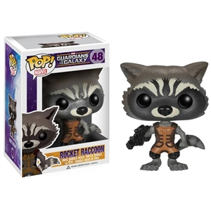 Boxed Figure: Funko POP Vinyl Guardians of the Galaxy Rocket Raccoon Bobble Head