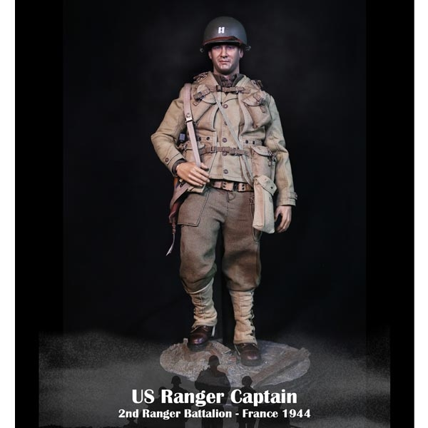 1//6 Facepoolfigure WWII US Army Ranger Captain France 1944 Action Figure FP-001