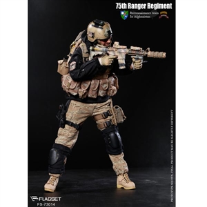 Boxed Figure: Flagset The US 75th Ranger Regiment In Afghanistan (73014)